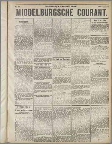Middelburgsche Courant 1922-02-09