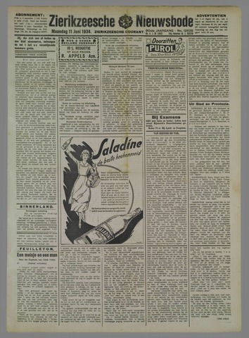 Zierikzeesche Nieuwsbode 1934-06-11