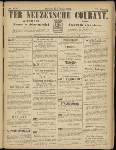 Ter Neuzensche Courant. Algemeen Nieuws- en Advertentieblad voor Zeeuwsch-Vlaanderen / Neuzensche Courant ... (idem) / (Algemeen) nieuws en advertentieblad voor Zeeuwsch-Vlaanderen 1897-02-27