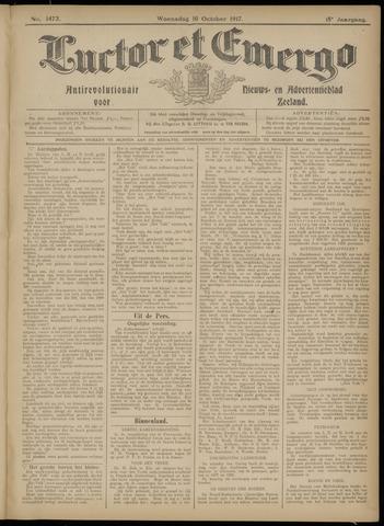 Luctor et Emergo. Antirevolutionair nieuws- en advertentieblad voor Zeeland / Zeeuwsch-Vlaanderen. Orgaan ter verspreiding van de christelijke beginselen in Zeeuwsch-Vlaanderen 1917-10-10