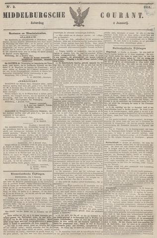 Middelburgsche Courant 1851-01-04
