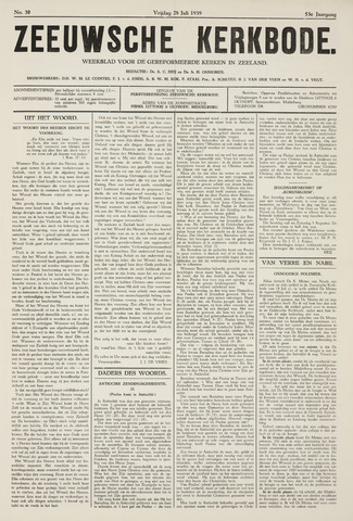 Zeeuwsche kerkbode, weekblad gewijd aan de belangen der gereformeerde kerken/ Zeeuwsch kerkblad 1939-07-28