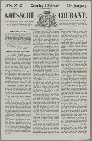 Goessche Courant 1874-02-07