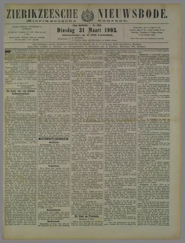 Zierikzeesche Nieuwsbode 1903-03-31