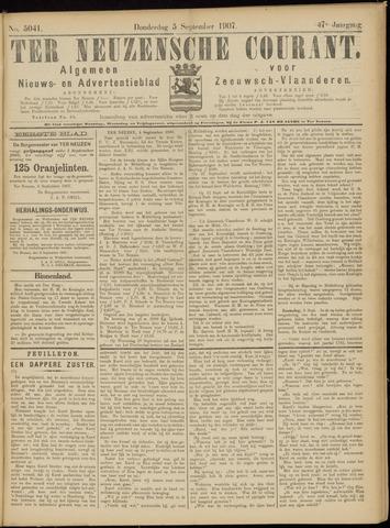 Ter Neuzensche Courant. Algemeen Nieuws- en Advertentieblad voor Zeeuwsch-Vlaanderen / Neuzensche Courant ... (idem) / (Algemeen) nieuws en advertentieblad voor Zeeuwsch-Vlaanderen 1907-09-05
