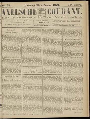 Axelsche Courant 1920-02-25