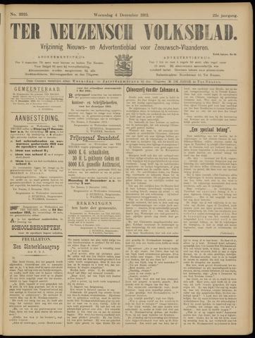 Ter Neuzensch Volksblad. Vrijzinnig nieuws- en advertentieblad voor Zeeuwsch- Vlaanderen / Zeeuwsch Nieuwsblad. Nieuws- en advertentieblad voor Zeeland 1912-12-04