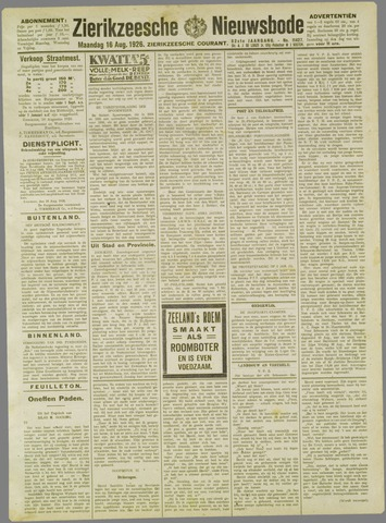 Zierikzeesche Nieuwsbode 1926-08-16