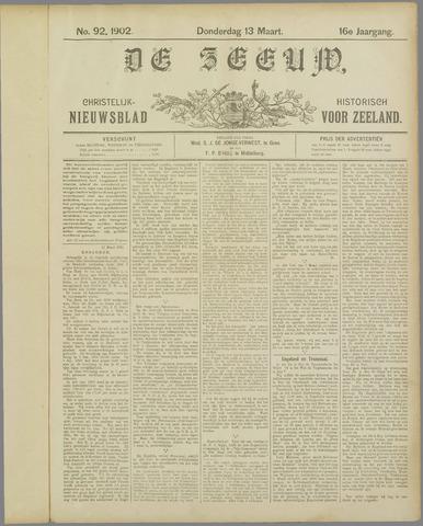 De Zeeuw. Christelijk-historisch nieuwsblad voor Zeeland 1902-03-13