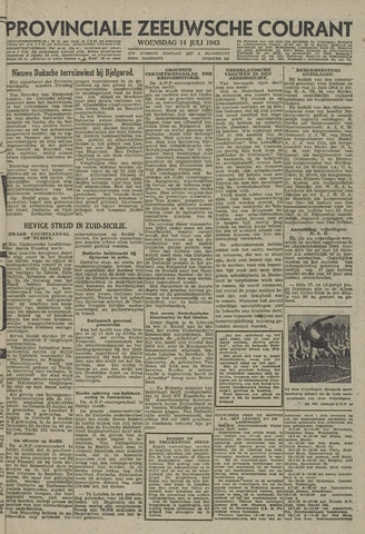 Provinciale Zeeuwse Courant 1943-07-14