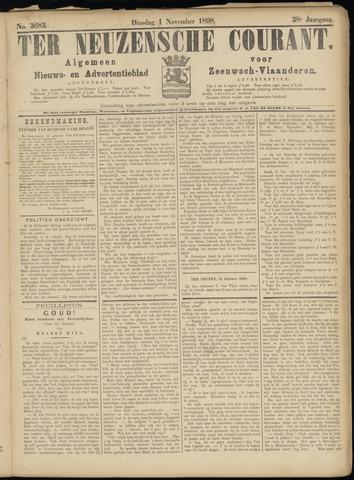 Ter Neuzensche Courant. Algemeen Nieuws- en Advertentieblad voor Zeeuwsch-Vlaanderen / Neuzensche Courant ... (idem) / (Algemeen) nieuws en advertentieblad voor Zeeuwsch-Vlaanderen 1898-11-01