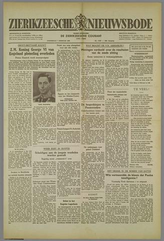 Zierikzeesche Nieuwsbode 1952-02-07