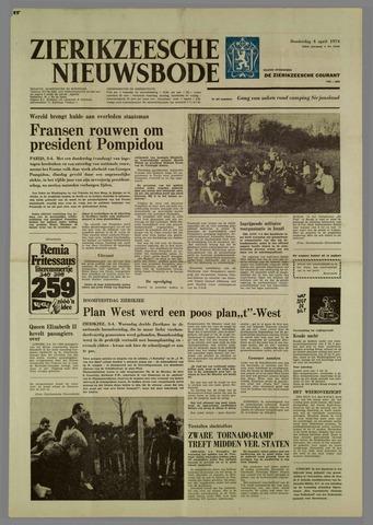 Zierikzeesche Nieuwsbode 1974-04-04