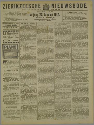 Zierikzeesche Nieuwsbode 1914-01-23