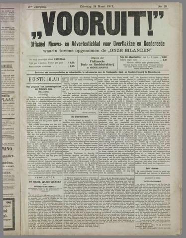 """""""Vooruit!""""Officieel Nieuws- en Advertentieblad voor Overflakkee en Goedereede 1917-03-24"""