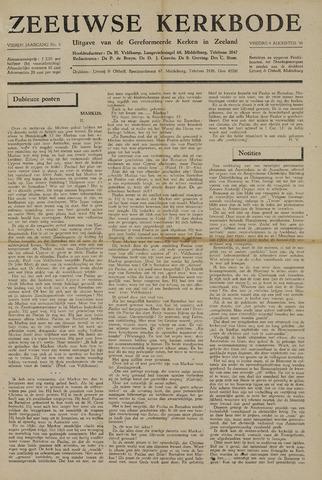 Zeeuwsche kerkbode, weekblad gewijd aan de belangen der gereformeerde kerken/ Zeeuwsch kerkblad 1948-08-06