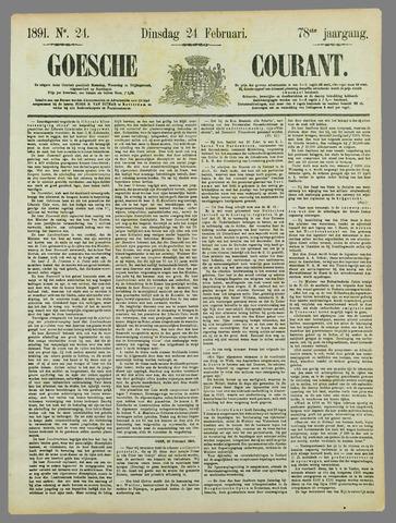Goessche Courant 1891-02-24