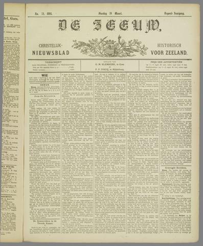 De Zeeuw. Christelijk-historisch nieuwsblad voor Zeeland 1895-03-19