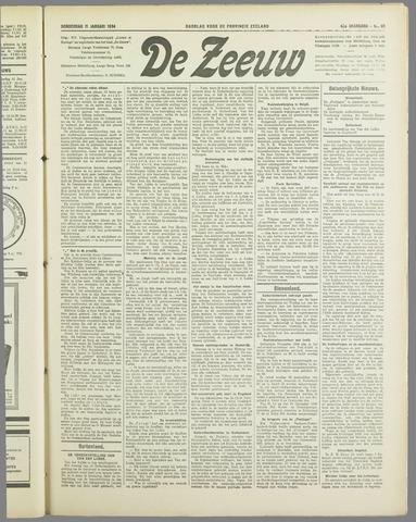 De Zeeuw. Christelijk-historisch nieuwsblad voor Zeeland 1934-01-11