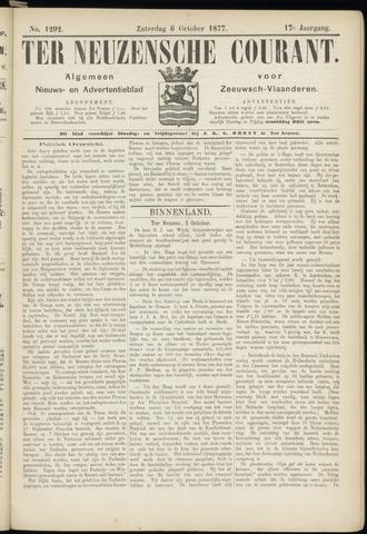 Ter Neuzensche Courant. Algemeen Nieuws- en Advertentieblad voor Zeeuwsch-Vlaanderen / Neuzensche Courant ... (idem) / (Algemeen) nieuws en advertentieblad voor Zeeuwsch-Vlaanderen 1877-10-06