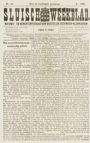 Sluisch Weekblad. Nieuws- en advertentieblad voor Westelijk Zeeuwsch-Vlaanderen 1880-10-08