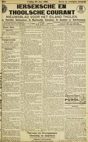 Ierseksche en Thoolsche Courant 1930-06-20