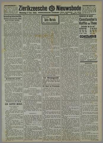 Zierikzeesche Nieuwsbode 1932-10-17