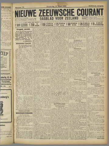 Nieuwe Zeeuwsche Courant 1922-03-30