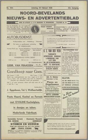 Noord-Bevelands Nieuws- en advertentieblad 1936-02-29