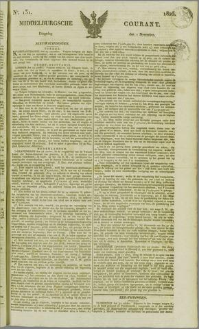 Middelburgsche Courant 1825-11-01