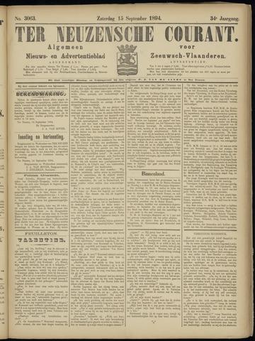Ter Neuzensche Courant. Algemeen Nieuws- en Advertentieblad voor Zeeuwsch-Vlaanderen / Neuzensche Courant ... (idem) / (Algemeen) nieuws en advertentieblad voor Zeeuwsch-Vlaanderen 1894-09-15
