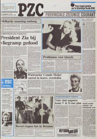 Provinciale Zeeuwse Courant 1988-08-18