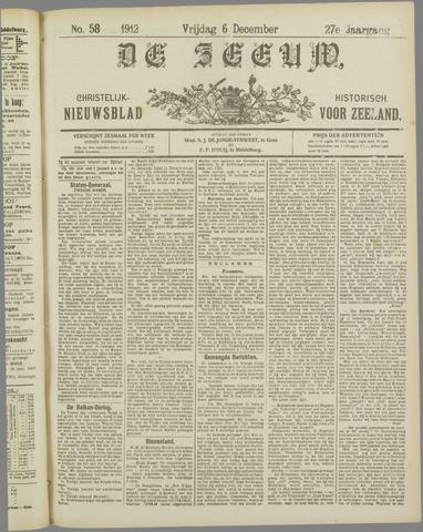 De Zeeuw. Christelijk-historisch nieuwsblad voor Zeeland 1912-12-06