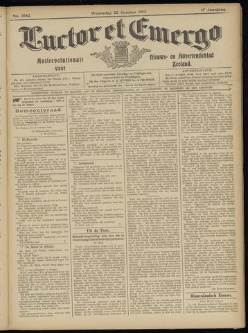 Luctor et Emergo. Antirevolutionair nieuws- en advertentieblad voor Zeeland / Zeeuwsch-Vlaanderen. Orgaan ter verspreiding van de christelijke beginselen in Zeeuwsch-Vlaanderen 1913-10-22
