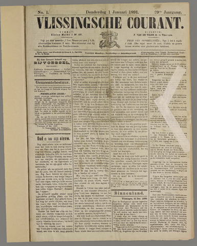 Vlissingse Courant 1891