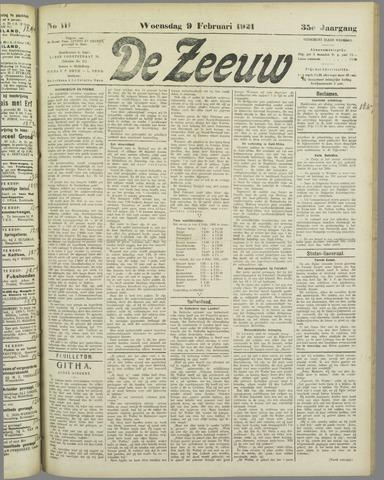 De Zeeuw. Christelijk-historisch nieuwsblad voor Zeeland 1921-02-09