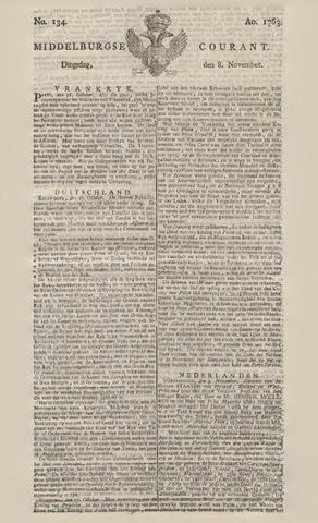 Middelburgsche Courant 1763-11-08