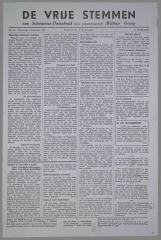 Vrije Stemmen van Schouwen-Duiveland, tevens mededeelingenblad Militair Gezag 1945-09-06