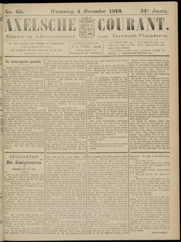 Axelsche Courant 1918-12-04