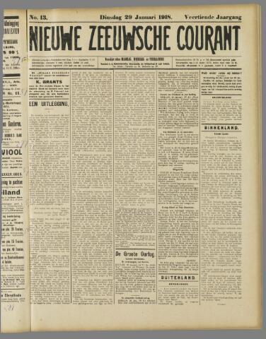 Nieuwe Zeeuwsche Courant 1918-01-29