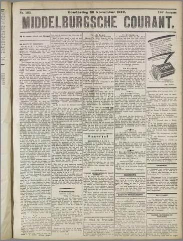 Middelburgsche Courant 1922-11-30