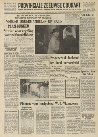 Provinciale Zeeuwse Courant 1962-04-14