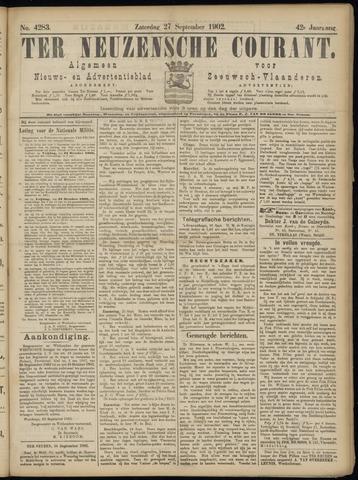 Ter Neuzensche Courant. Algemeen Nieuws- en Advertentieblad voor Zeeuwsch-Vlaanderen / Neuzensche Courant ... (idem) / (Algemeen) nieuws en advertentieblad voor Zeeuwsch-Vlaanderen 1902-09-27