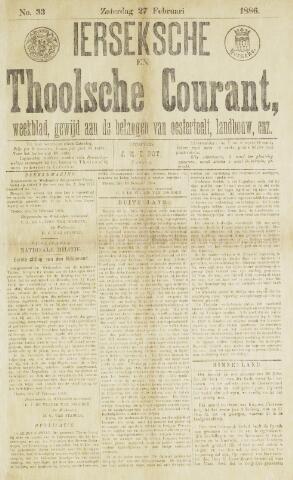 Ierseksche en Thoolsche Courant 1886-02-27