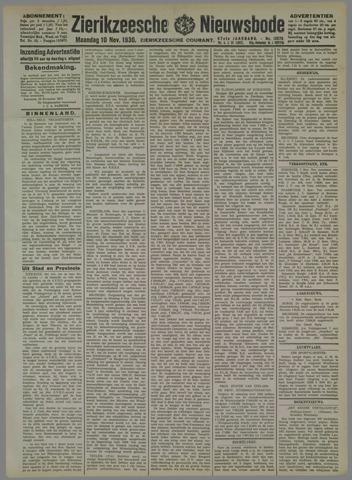 Zierikzeesche Nieuwsbode 1930-11-10