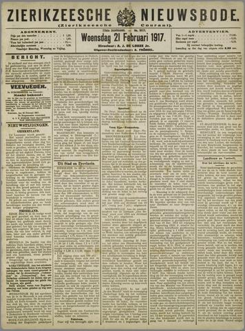 Zierikzeesche Nieuwsbode 1917-02-21