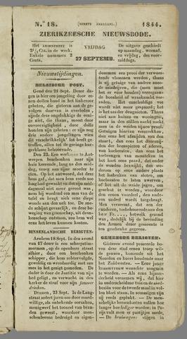 Zierikzeesche Nieuwsbode 1844-09-27