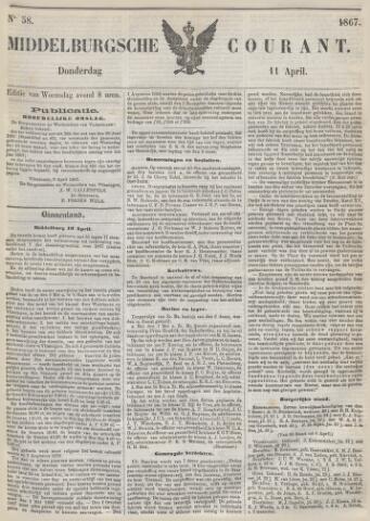 Middelburgsche Courant 1867-04-11