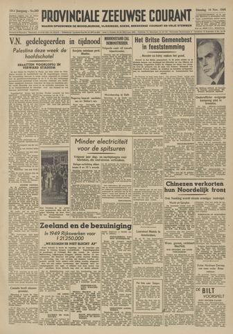 Provinciale Zeeuwse Courant 1948-11-16