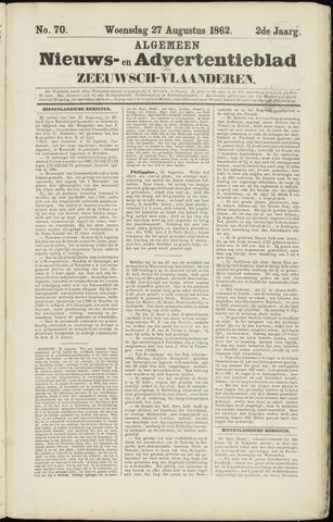 Ter Neuzensche Courant. Algemeen Nieuws- en Advertentieblad voor Zeeuwsch-Vlaanderen / Neuzensche Courant ... (idem) / (Algemeen) nieuws en advertentieblad voor Zeeuwsch-Vlaanderen 1862-08-27
